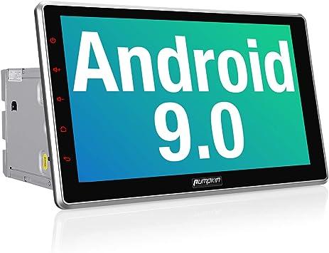 """Pumpkin 10.1"""" Android 9.0 2 DIN Autoradio Universal Radio para Coche, 1 DIN GPS Navegador soporta Control Volante, Bluetooth, WiFi, Mirror-Link, 1080P HD Video, USB, SD: Amazon.es: Electrónica"""