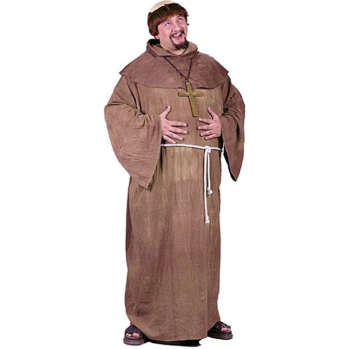 ccdc7566224aa Amazon.com  Medieval Monk Plus Size Costume  Toys   Games