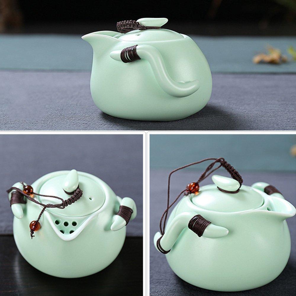 XDOBO Imported Vintage Chinese & Japanese Style Porcelain Handmade Kung Fu Tea Set, 10-pack (White) T-007