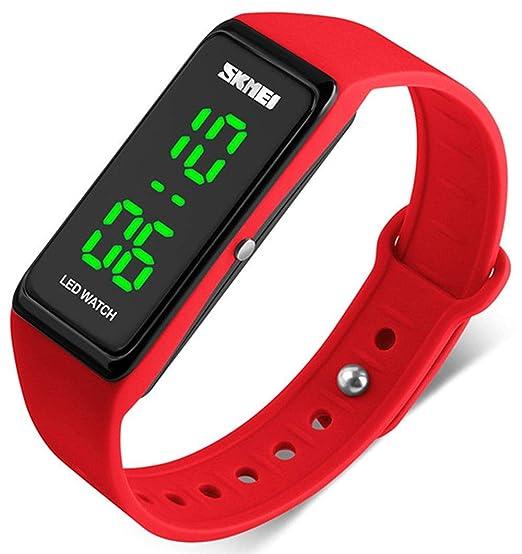 Reloj Digital Unisex con Esfera Grande y Cuadrada, LED, Reloj electrónico para Hombres para Mujeres y Estudiantes de Silicona: Amazon.es: Relojes