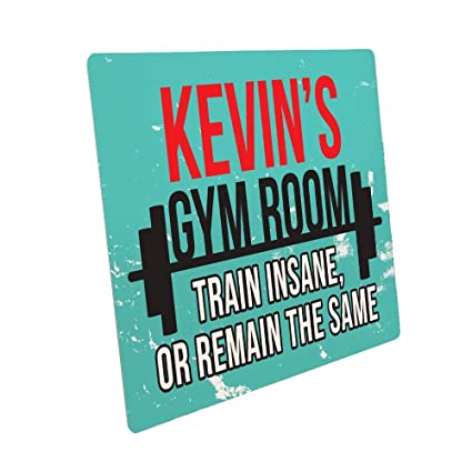 Personalised gym room metal sign for him body builders plaque