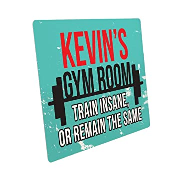 Amazon.com: Personalizado Gimnasio metal Sign para él ...