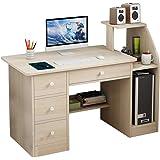 40 Student Study Desktop Desk Laptop Table Modern PC Workstation Dormitory Study Desk with Bottom Storage Shelves and Drawer KANGMOON Computer Desk Home Office Desks with Shelf