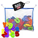 BLACK FRIDAY SALE!!! Bath Letters and Numbers with Bath Toy Organizer. Educational Bath Toys with Premium Bath Toy Storage