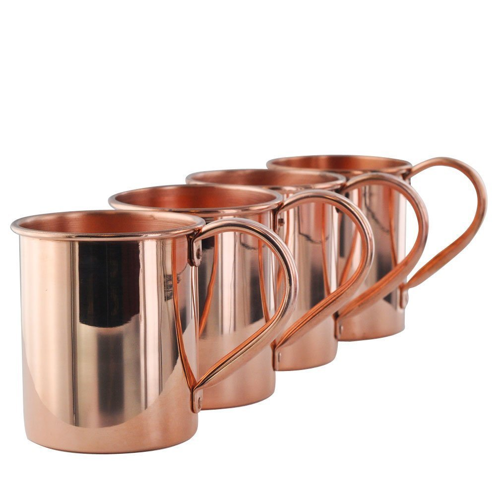 Solid 100% Pure Copper Moscow Mule Mugs Set of 4 AVS STORE