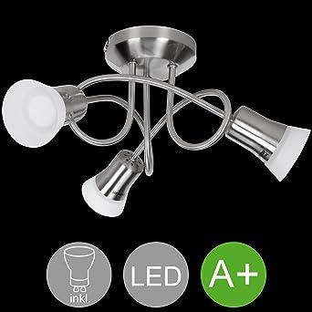 Design Decken Lampe Wohn Ess Zimmer Beleuchtung Glas Spot Strahler schwenkbar