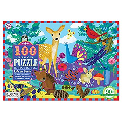 eeBoo Life on Earth Puzzle for Kids, 100 Pieces: Varios: Toys & Games