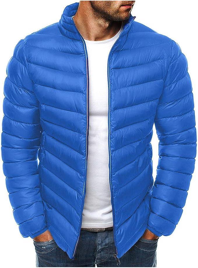 Kaiki Herren Wärmejacke Wintermantel Coat Leichter Leichte Steppjacke Funktionelle Jacke Outdoor Freizeitjacke Kapuze Blousons Sportlicher