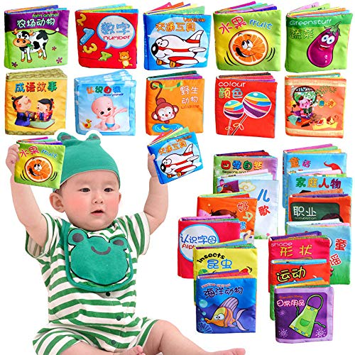 Euone  Cloth Book, Intelligence Development Cloth Fabric Cognize Book Educational Toy for Kid Baby ()