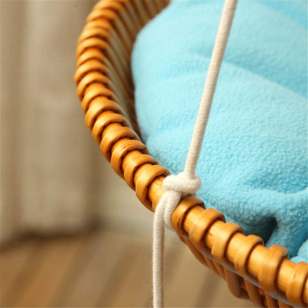 Hammock - Sleeping Nest for Cats - Wicker Swinging Bed with Hemp Rope ,Safe Comfortable Oval Cat Hammock Hanging Bed Breathable Cages by Yunt-11 (Image #3)