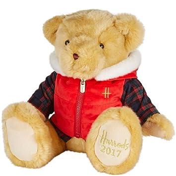 Christmas Bear.Harrods Bertie Christmas Bear 2017 Amazon Co Uk Toys Games