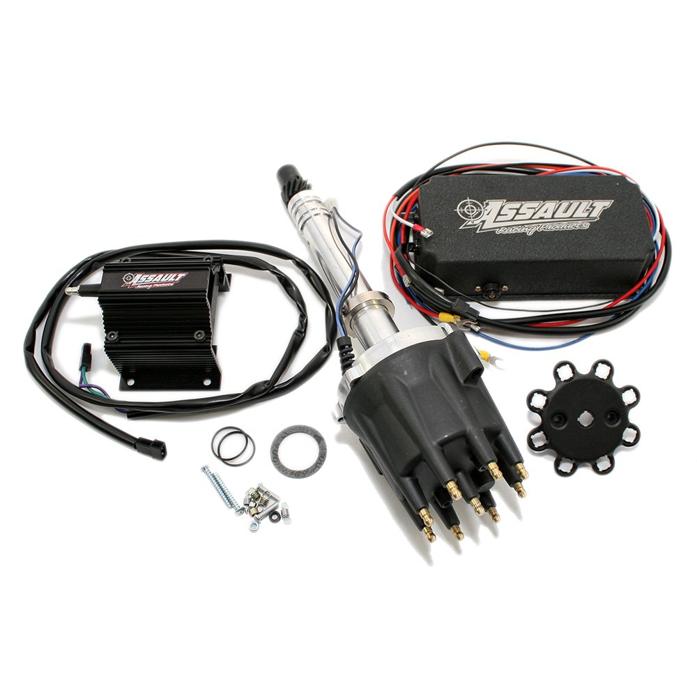 Amazon.com: Assault Racing Products 1535022 Chevy V8 Pro Billet Black Mech. Distributor  Coil Ignition Box Kit SBC BBC 327 350 396 454: Automotive