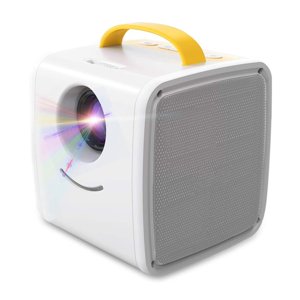 Home Theater Q2 Portable Mini LCD Projector Dual Speakers Support Full HD 1080P