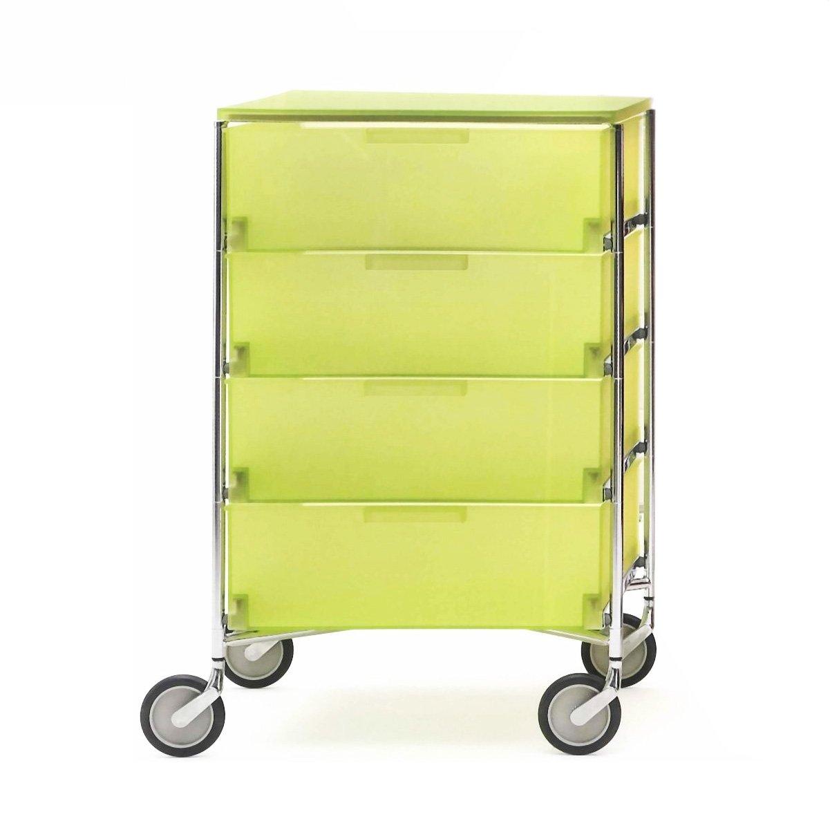 Kartell 2024L3 Container Mobil, 4 Schubladen, zitronengelb
