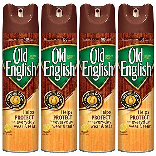 Old English Furniture Polish, Lemon 12.5 oz Can (Pack of 4)
