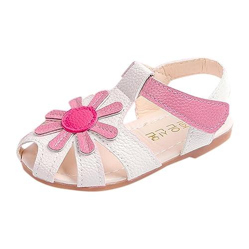 Lenfesh Sandali Bambine, Multicolore (Pink), 20 EU