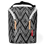 Skip Hop Insulated Breastmilk Cooler and Baby Bottle Bag, Grab & Go Double, Zig Zag Zebra