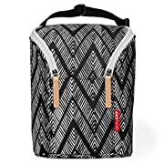 Skip Hop Grab & Go Double Bottle Bag, Zig Zag Zebra