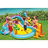 Kids Summer Fun Backyard Fun Play Center Outdoor Intex Dinoland Inflatable Play Center, 118'' X 90'' X 44'', for Ages 3+
