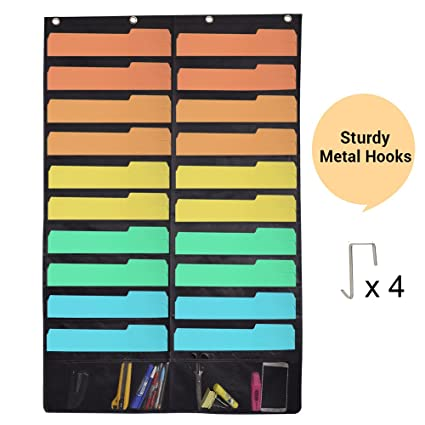 Wall Storage Pocket Charts File Organizers,Over The Door Bill Paper Magazine  Holder Perfect For