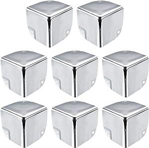 uxcell Metal Box Corner Protectors Box Edge Guard Protector 50 X 50 X 50mm Silver Tone 8pcs