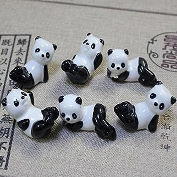 ZUMUii Butterme confezione da 6/carino giapponese Maneki Neko modello porta bacchette resto supporto rack porcellana cucchiaio forchetta coltello in ceramica Home Decor