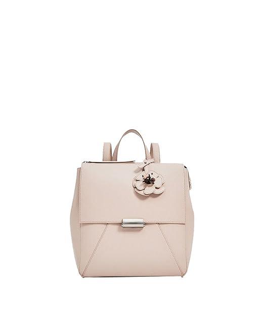 Yy.f Patrón De Flor De La Correa Mochilas Bolsas De Hombro Del Diseñador De Las Mujeres Bolsos Carteras Paquete Sólido Color 2,Pink-30*14*28cm: Amazon.es: ...