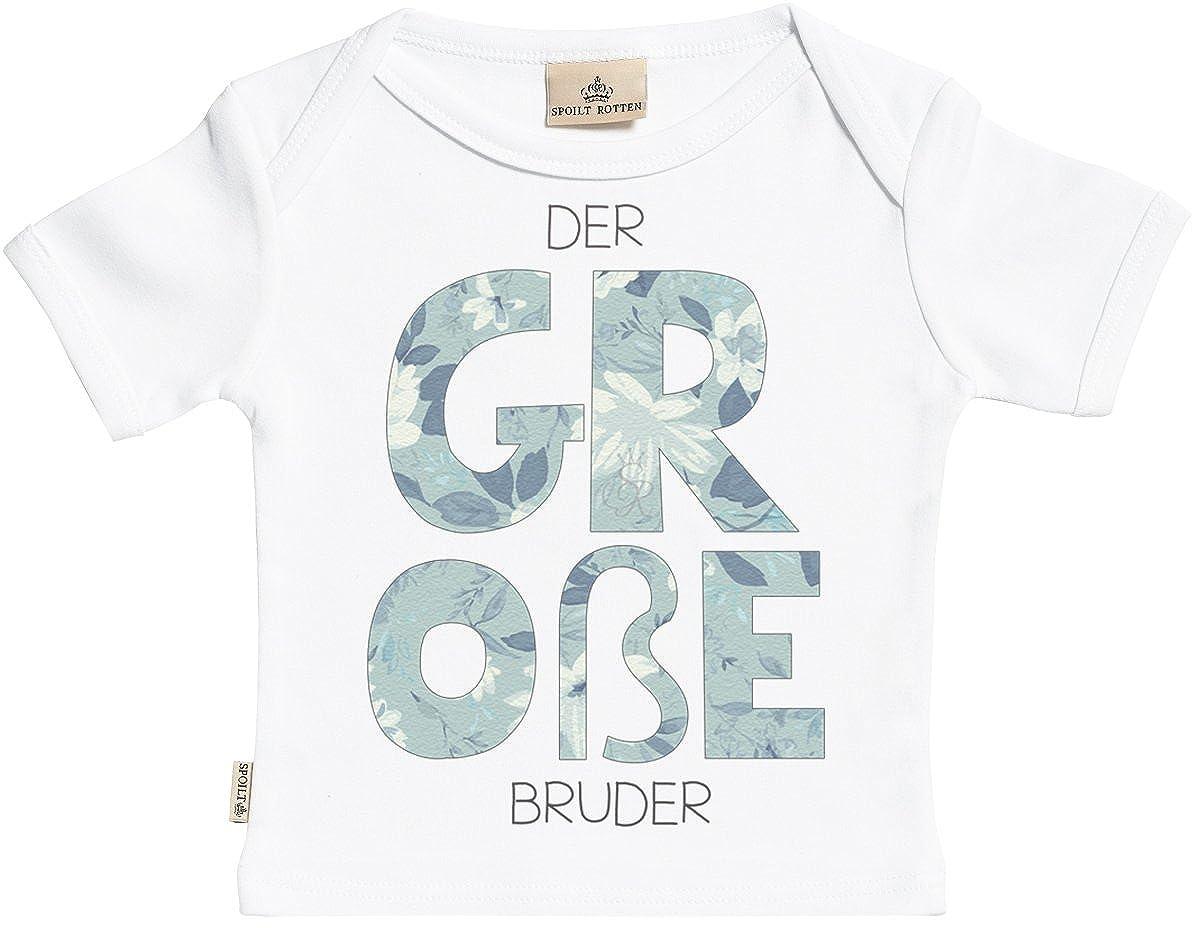 SR - Milchtüte Geschenkbox - der Große Bruder Kurzarm Baby T-Shirt - Toddler T-Shirt - Baby Shirt - Baby Geschenkset DEMD9_TC