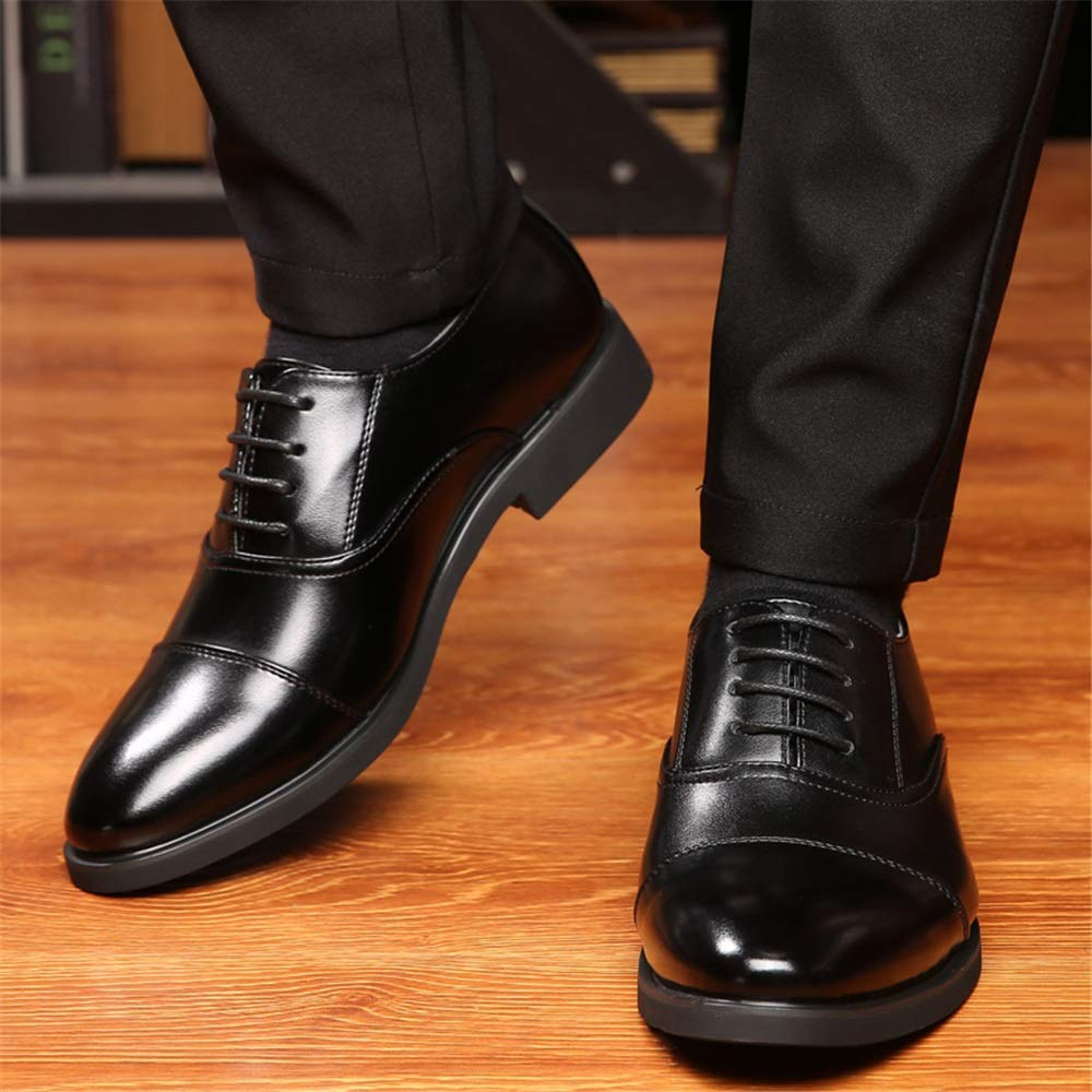 HYF Mens Business Oxford Casual Comfortable Low-top Lace-up Gentleman Style Formal Shoes Dress Shoes Business Shoes for Men