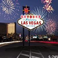 6x8ft Vinyl Digital Las Vegas Casino City Fireworks Photography Studio Backdrop Background