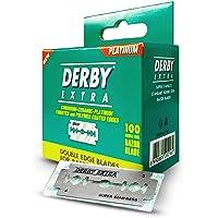 Derby Extra - Cuchillas de afeitar de doble filo de seguridad – Paquete de 100 hojas