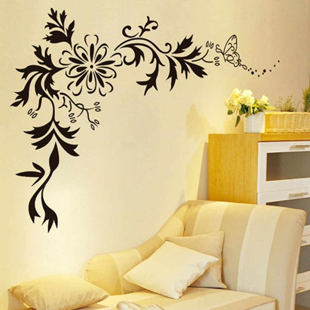 Superbe Buy Decals Design U0027Floralu0027 Wall Sticker (PVC Vinyl, 70 Cm X 50 Cm, Black)  Online At Low Prices In India   Amazon.in