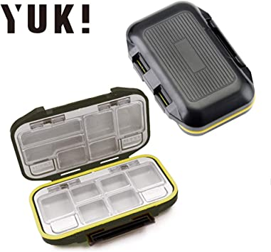 Fly Fishing Tackle Box Hook Lure Case Holer Storage Waterproof 19 Compartments