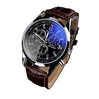 Logobeing Relojes Análogos Del Cuarzo Del Vidrio Del Rayo Azul de Lujo Relojes Hombre Baratos Elegantes