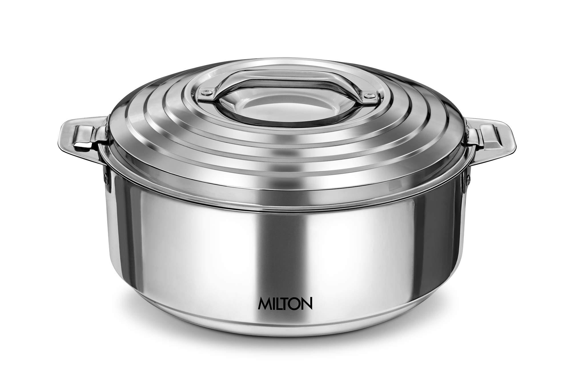 8. Milton Galaxia Stainless Steel Casserole, 2.5 litres, Silver