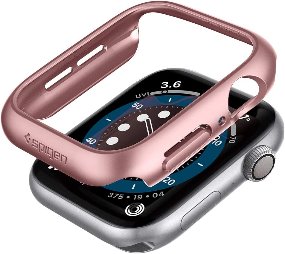 Spigen Thin Fit Designed for Apple Watch Case for 44mm Series 6/SE/5/4 - Rose Gold
