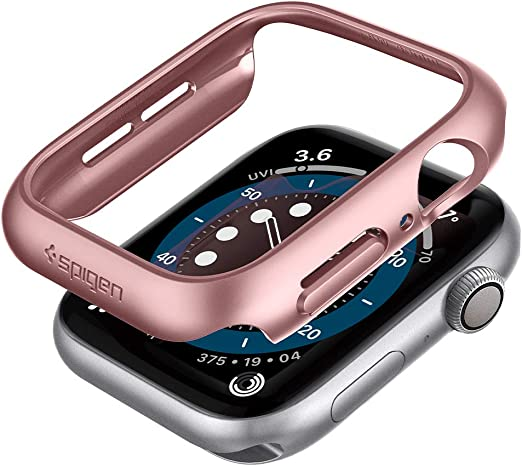 Spigen Thin Fit Kompatibel Mit Apple Watch Hülle Fur Elektronik