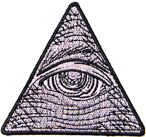 God Eye of Providence Jacket T-shirt Patch Sew Iron on Embroidered Applique Symbol Sign Badge Costum Gift (pink) (Jet 7 Club Halloween)