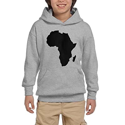 Africa Map Youth Pullover Hoodies Athletic Pockets Sweatsuit