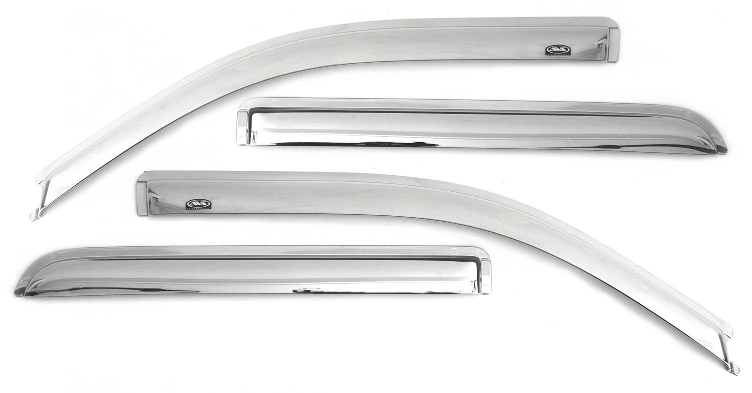 Auto Ventshade 684355 Chrome Ventvisor Side Window Deflector, 4-Piece Set for most 2001-2006 GM Full Size Crew Cab Trucks and SUV's - Consult application guide to verify fitment | Also fits 2007 HD Classic Crew Cab Models