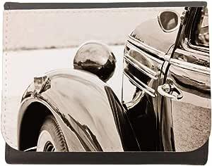 محفظة جلد  بتصميم سيارة بطراز قديم  ، مقاس 12cm X 10cm