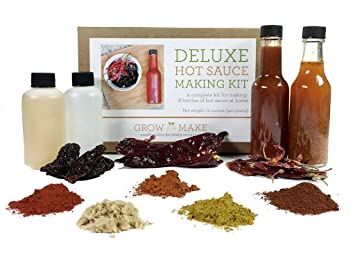 Amazon grow and make deluxe diy gourmet hot sauce kit 6 grow and make deluxe diy gourmet hot sauce kit 6 recipes included solutioingenieria Image collections