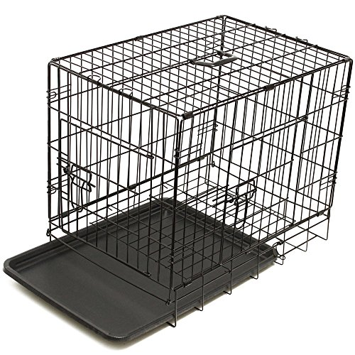 42'' Dog Crate 2 Door w/Divide w/Tray Fold Metal Pet Cage Kennel House for Animal by BestPet (Image #5)