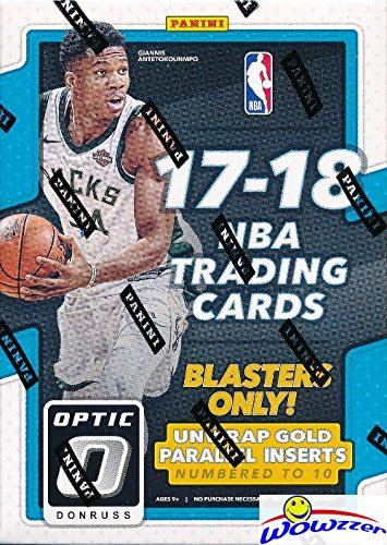 2017/18 Panini Donruss OPTIC NBA Basketball EXCLUSIVE Factory Sealed Blaster Box! Look for ROOKIES, PRIZMS & AUTOGRAPHS of Donovan Mitchell, Kyle Kuzma, Jayson Tatum, Lonzo Ball & More! - Card Box Nba