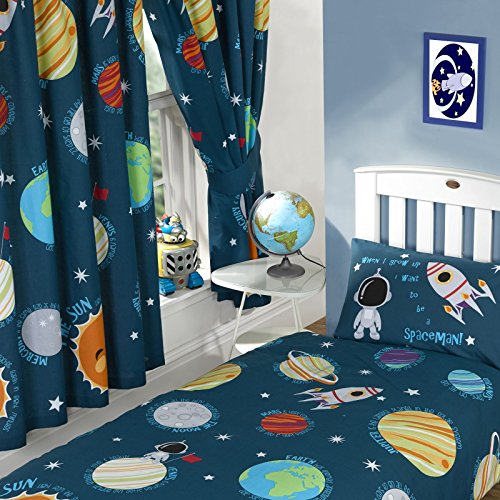 Solar System Curtains Fully Lined 66x72 with Tie Backs by Price Right Home
