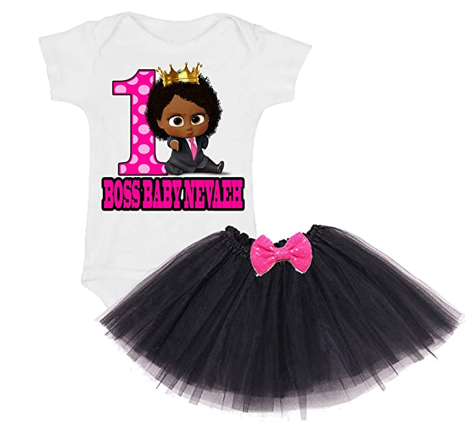 Boss Baby Girls 1st Birthday Girl Tutu Outfit For One Year Old 1 Personalized