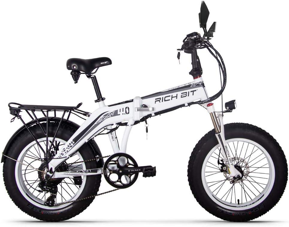 RICH BIT 500W 48V 20 * 4.0 pulgadas ebike grasa bicicleta plegable ...