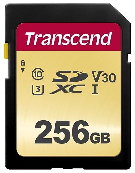 Transcend SDC500S - Tarjeta de memoria SDXC (256 GB) color dorado ...