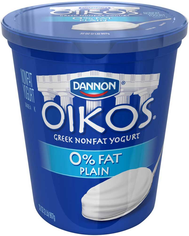 Oikos Plain Nonfat Greek Yogurt, 32 Ounce -- 6 per case. by Dannon (Image #1)