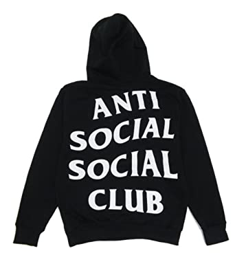 b579afcc439e Anti Social Club Hoodie Inspired Kanye West Sweatshirts Unisex Hooded  Jumper (Large